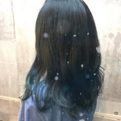 暗髪 ブルージュ セミロング 外国人風カラー ヘアスタイルや髪型の写真・画像
