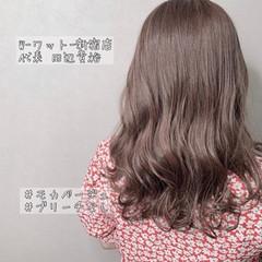 外国人風カラー ナチュラル イルミナカラー ミディアム ヘアスタイルや髪型の写真・画像
