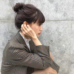 ミディアム 簡単ヘアアレンジ ヘアアレンジ 謝恩会 ヘアスタイルや髪型の写真・画像