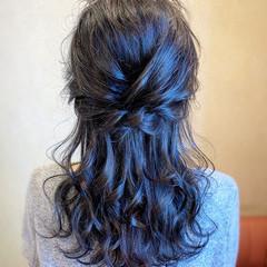 フェミニン 結婚式 パーティ ヘアアレンジ ヘアスタイルや髪型の写真・画像