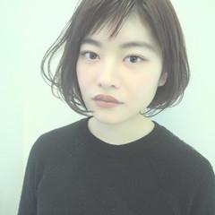 コンサバ 小顔ショート オフィス ショートボブ ヘアスタイルや髪型の写真・画像
