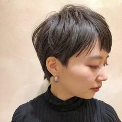 黒髪 ナチュラル ベリーショート ショート ヘアスタイルや髪型の写真・画像