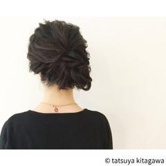 外国人風 ヘアアレンジ 大人女子 セミロング ヘアスタイルや髪型の写真・画像