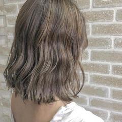 モテ髪 切りっぱなしボブ ミディアム 外国人風 ヘアスタイルや髪型の写真・画像