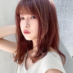 ミディアム デート モテ髮シルエット デジタルパーマ ヘアスタイルや髪型の写真・画像
