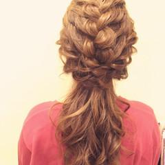 ヘアアレンジ ポニーテール ハーフアップ ロング ヘアスタイルや髪型の写真・画像