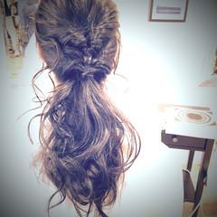 ラフ 簡単 くるりんぱ ヘアアレンジ ヘアスタイルや髪型の写真・画像