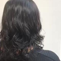 無造作パーマ ミディアム ナチュラル デジタルパーマ ヘアスタイルや髪型の写真・画像