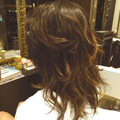 暗髪 外国人風 大人かわいい セミロング ヘアスタイルや髪型の写真・画像