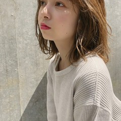 外国人風カラー ミディアム トリートメント ウルフ ヘアスタイルや髪型の写真・画像