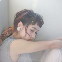 ラフ ヘアアレンジ ストリート ウェーブ ヘアスタイルや髪型の写真・画像