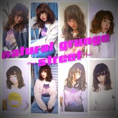 ウェーブ モード ミディアム ストレート ヘアスタイルや髪型の写真・画像