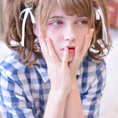 かわいい ガーリー 涼しげ 夏 ヘアスタイルや髪型の写真・画像