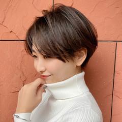 ショートボブ デート ショートヘア ショート ヘアスタイルや髪型の写真・画像