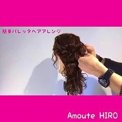 簡単ヘアアレンジ ショート 簡単 エレガント ヘアスタイルや髪型の写真・画像