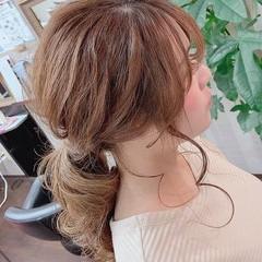 ヘアアレンジ ふわふわヘアアレンジ 簡単ヘアアレンジ セミロング ヘアスタイルや髪型の写真・画像