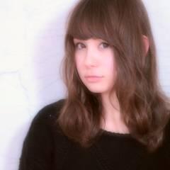 丸顔 愛され ゆるふわ モテ髪 ヘアスタイルや髪型の写真・画像