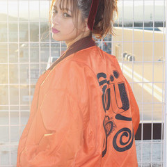 ミディアム 簡単ヘアアレンジ ピュア ショート ヘアスタイルや髪型の写真・画像