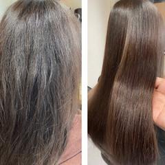 髪質改善 ロング 髪質改善カラー 髪質改善トリートメント ヘアスタイルや髪型の写真・画像