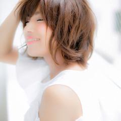 外ハネ ゆるふわ フェミニン ガーリー ヘアスタイルや髪型の写真・画像