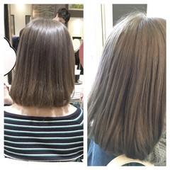ストリート 暗髪 ハイライト アッシュ ヘアスタイルや髪型の写真・画像