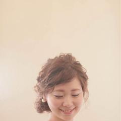 結婚式 ヘアアレンジ 大人かわいい 編み込み ヘアスタイルや髪型の写真・画像