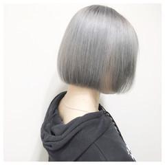 ホワイトアッシュ ホワイト シルバー ストリート ヘアスタイルや髪型の写真・画像