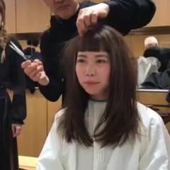 モード ロング ウルフカット ヘアスタイルや髪型の写真・画像