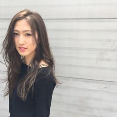 モード ロング 外国人風 アッシュ ヘアスタイルや髪型の写真・画像