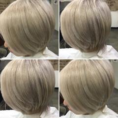 ストリート 外国人風 ベージュ ホワイト ヘアスタイルや髪型の写真・画像