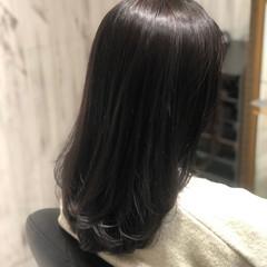 暗髪 冬カラー ナチュラル グレージュ ヘアスタイルや髪型の写真・画像