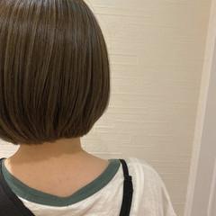 グレージュ ボブ ミニボブ ナチュラル ヘアスタイルや髪型の写真・画像