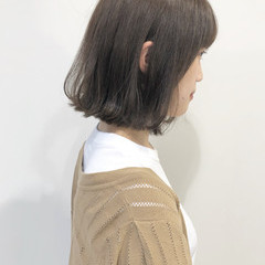 外ハネ ショートボブ 透明感 ミニボブ ヘアスタイルや髪型の写真・画像