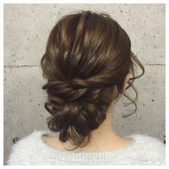 結婚式 ロング ヘアアレンジ パーティ ヘアスタイルや髪型の写真・画像