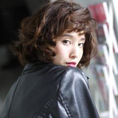 ボブ 外国人風 パーマ ストリート ヘアスタイルや髪型の写真・画像