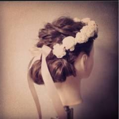 大人かわいい 結婚式 コンサバ モテ髪 ヘアスタイルや髪型の写真・画像