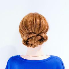 くるりんぱ 簡単ヘアアレンジ ねじり フェミニン ヘアスタイルや髪型の写真・画像