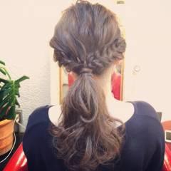 ヘアアレンジ ストリート ウェーブ アップスタイル ヘアスタイルや髪型の写真・画像