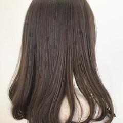 ナチュラル ココアベージュ TOKIOトリートメント セミロング ヘアスタイルや髪型の写真・画像
