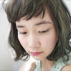 ハイライト 外国人風 パーマ 前髪あり ヘアスタイルや髪型の写真・画像