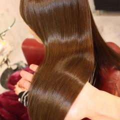 ロング 外国人風 艶髪 ナチュラル ヘアスタイルや髪型の写真・画像