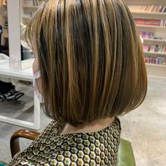 グラデーションカラー ボブ バレイヤージュ ミニボブ ヘアスタイルや髪型の写真・画像