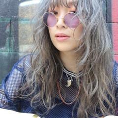 外国人風 ストリート セミロング ラフ ヘアスタイルや髪型の写真・画像
