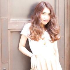 ガーリー オレンジ フェミニン 大人かわいい ヘアスタイルや髪型の写真・画像
