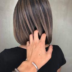 切りっぱなしボブ 外国人風カラー ショート ミニボブ ヘアスタイルや髪型の写真・画像