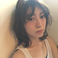 大人かわいい フェミニン ナチュラル ミディアム ヘアスタイルや髪型の写真・画像