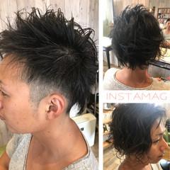 ボーイッシュ 坊主 パーマ モード ヘアスタイルや髪型の写真・画像