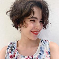パーマ ナチュラル エアウェーブ 小顔ヘア ヘアスタイルや髪型の写真・画像