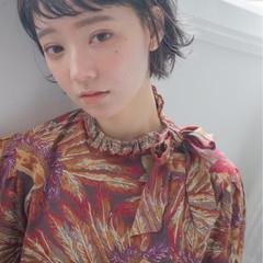 ナチュラル ショート パーマ アッシュ ヘアスタイルや髪型の写真・画像