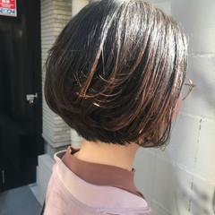 透明感カラー イルミナカラー ボブ シンプルボブ ヘアスタイルや髪型の写真・画像